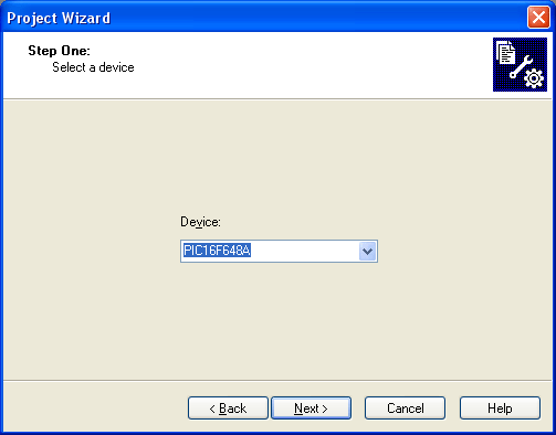 Project Wizard 1