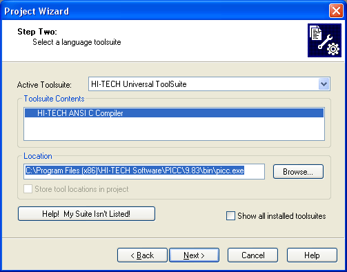 Project Wizard 2