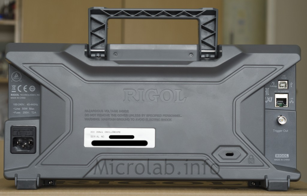 Rigol DS2072A back