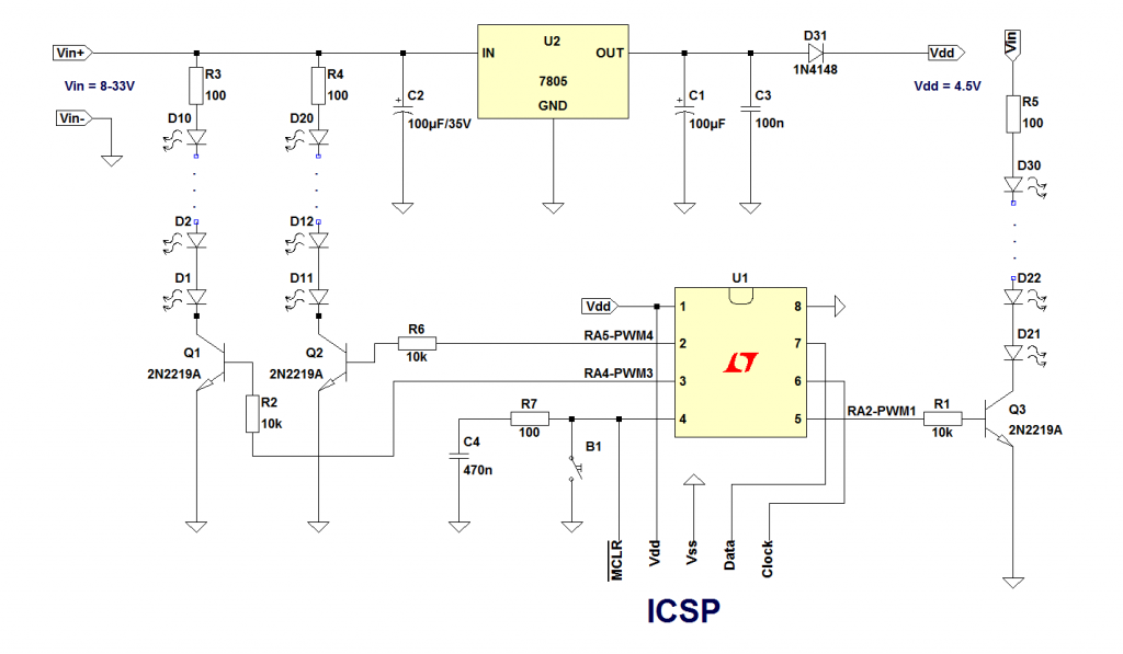 Christmas lights controller schematic